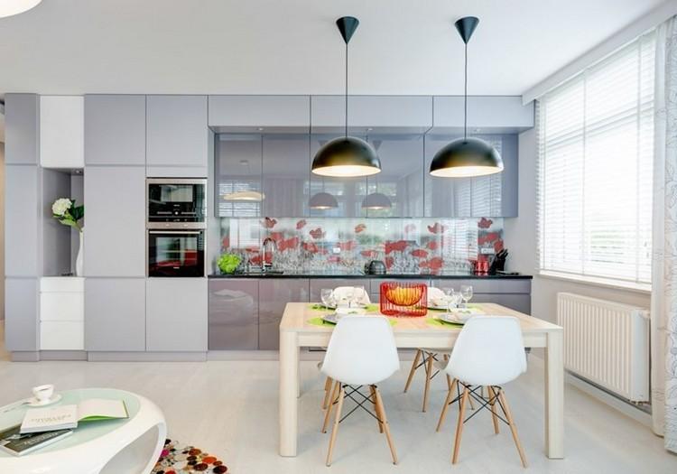 diseño cocina color gris paloma