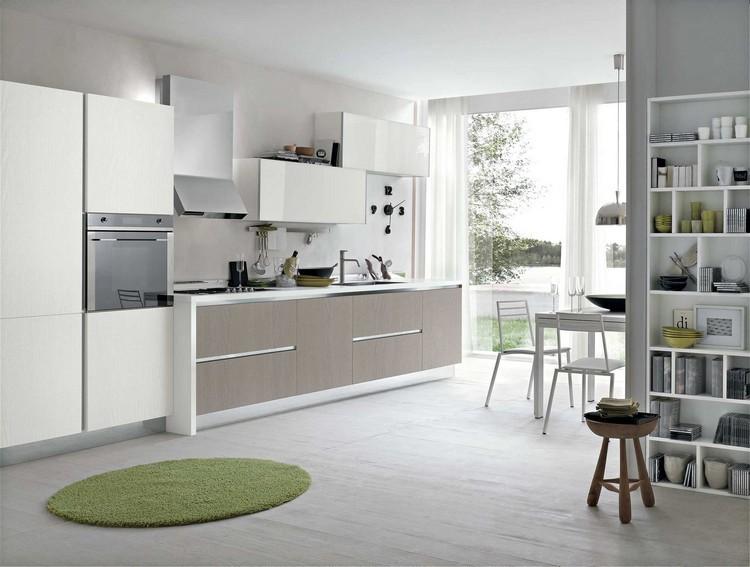 diseño cocina gris verde