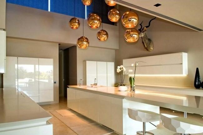 diseño cocina lamparas colgantes bolas