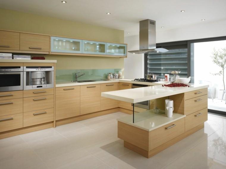 diseño cocina madera roble laminada