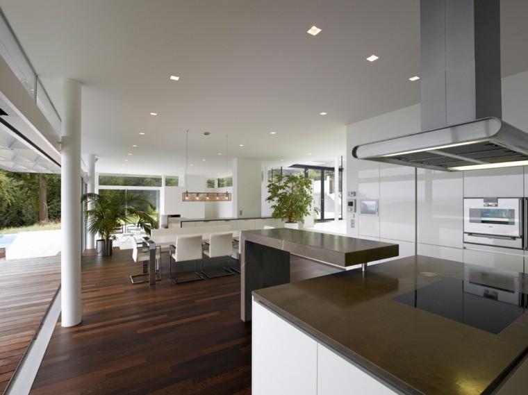 diseño cocina moderna lujosa futurista