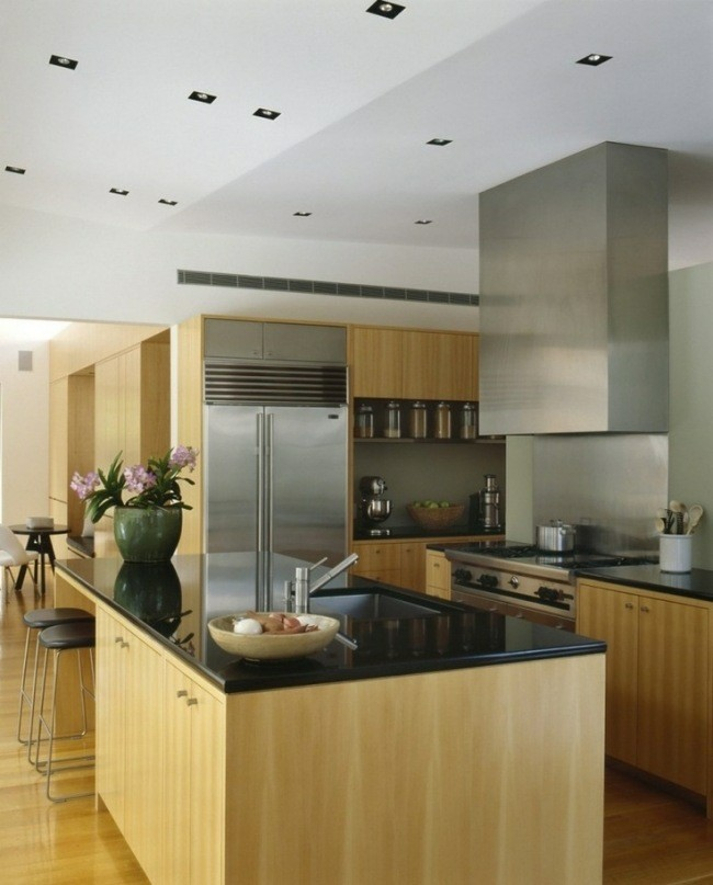 diseño cocina moderna muebles madera