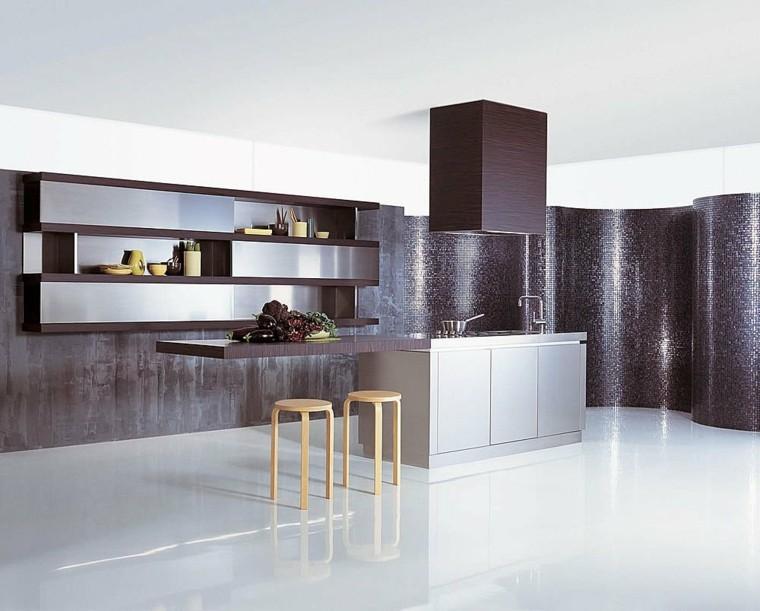 diseño cocina revestimiento pared mosaico