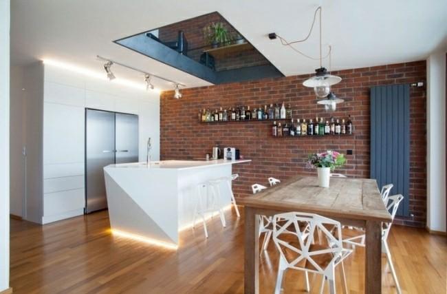 diseño isla cocina techo abierto