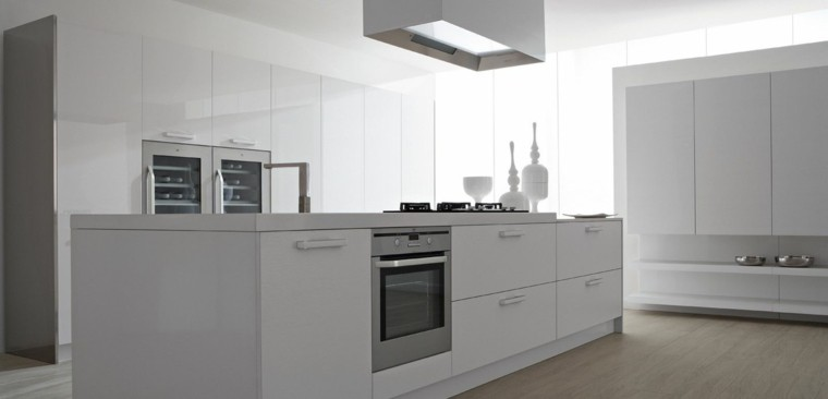 diseño cocina moderna todo blanco