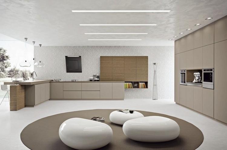 diseño cocina moderna tonos beige