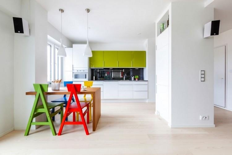 diseño cocina moderna varios colores