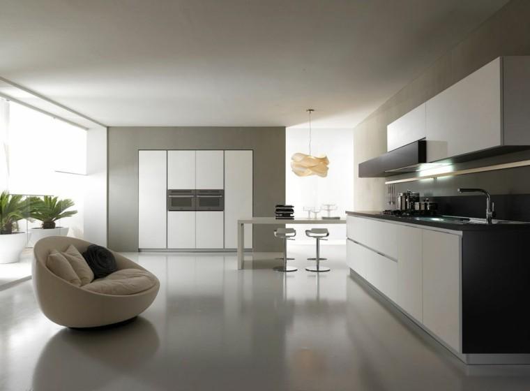 diseño cocina sillon redondo beige