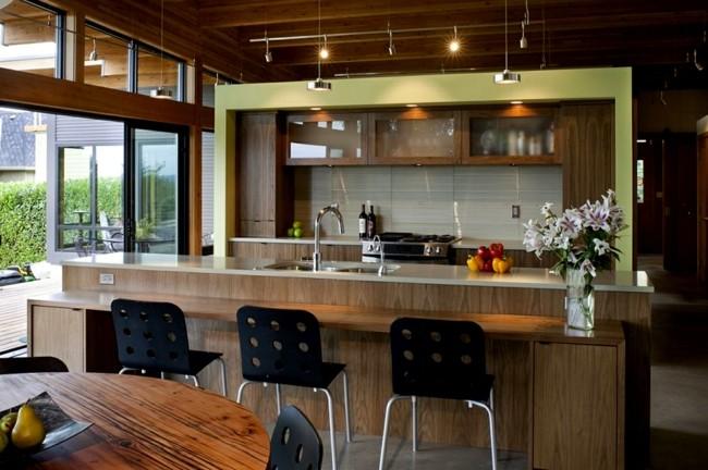 diseño cocinas modernas madera laminada