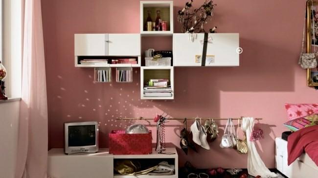 diseño dormitorio color salmon