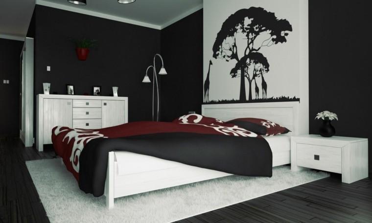 diseño cuarto blanco negro