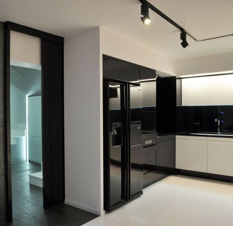 diseño de cocina moderna negra