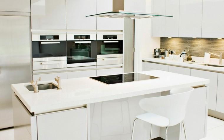 diseño de cocinas modernas blancas