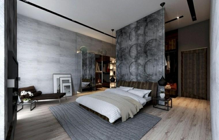 diseño dormitorio estilo moderno cemento