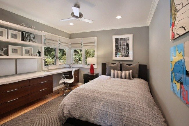 diseño dormitorio juvenil chico moderno