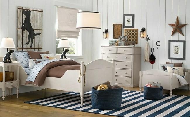 diseño dormitorio estilo retro nautico