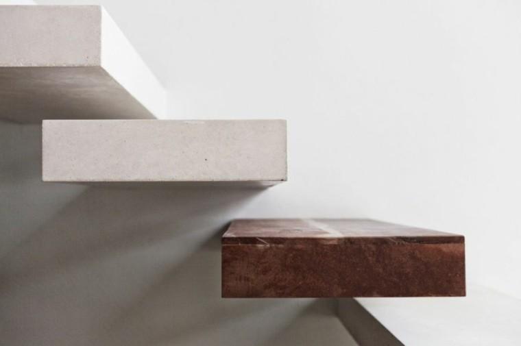 diseño escalones modernos bloques suspendidos