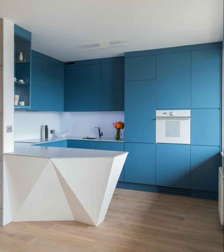 Azul y blanco los colores de moda para interiores Colores minimalistas para interiores