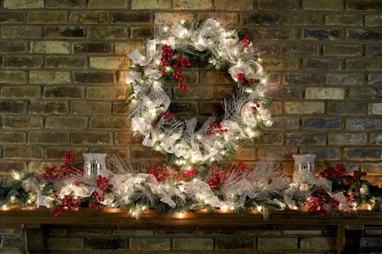 diseño guirnaldas navidad luces blancas