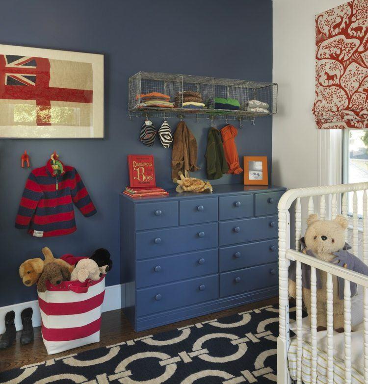 diseño habitacion bebe bandera paredes oso