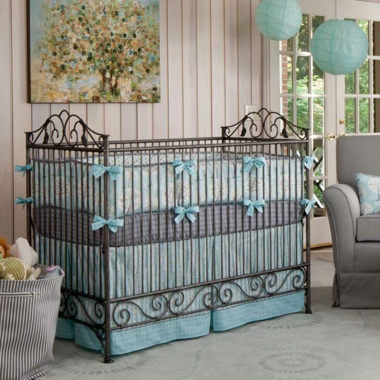 diseño habitacion bebe forja muebles cama