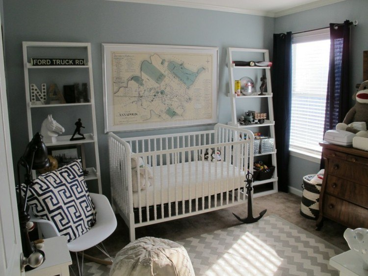 diseño habitacion bebe geometrico estilo cuna