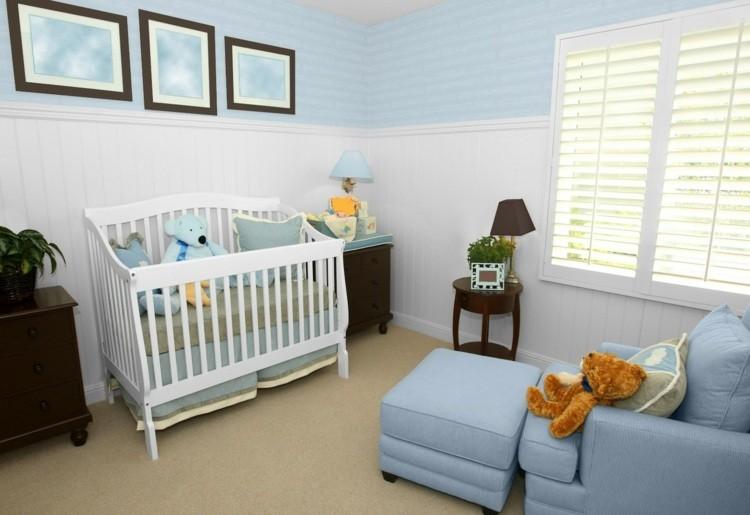 diseño habitacion bebe luz natural cama