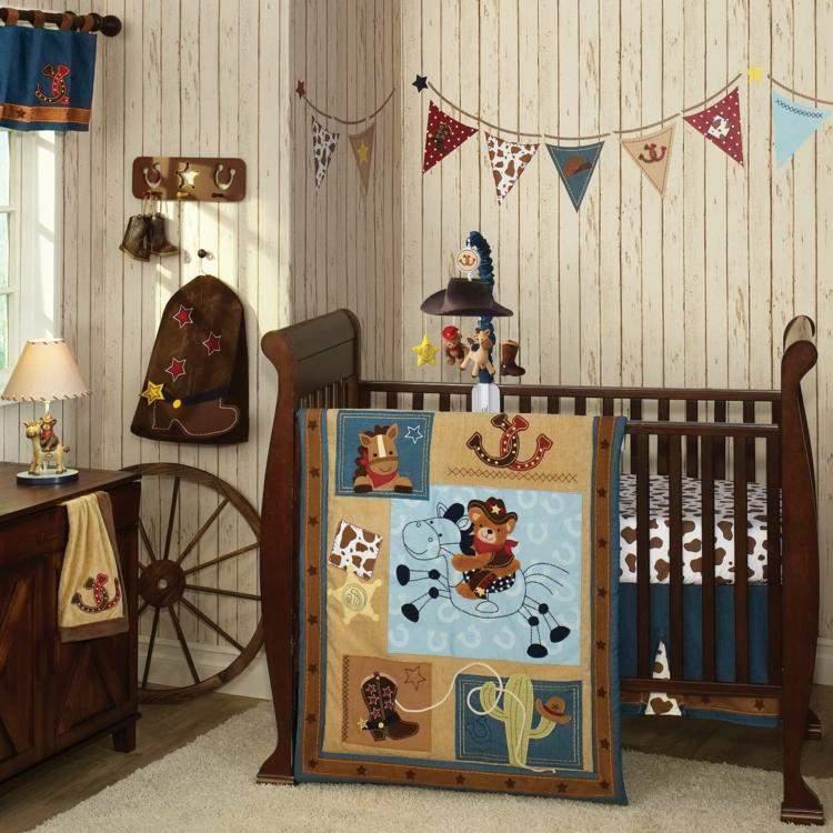 diseo habitacion bebe vaquero tema oeste