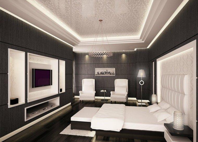 Dormitorios de matrimonio de colores oscuros 50 ideas for Diseno deco habitacion para adultos
