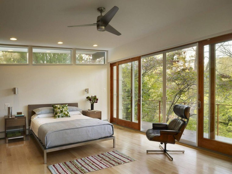 diseño habitacion moderna vistas jardin