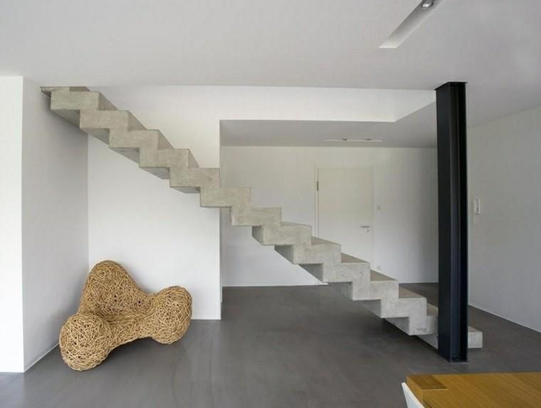 diseño interiores cemento escaleras modernas
