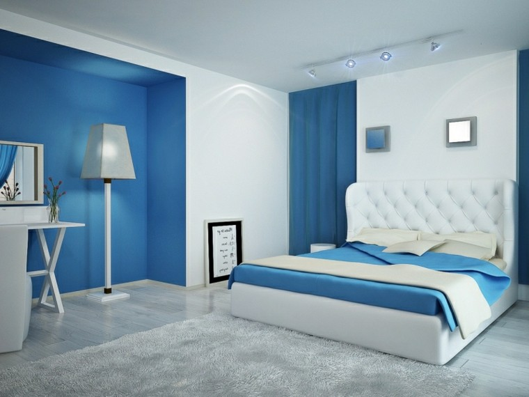 Azul y blanco - los colores de moda para interiores