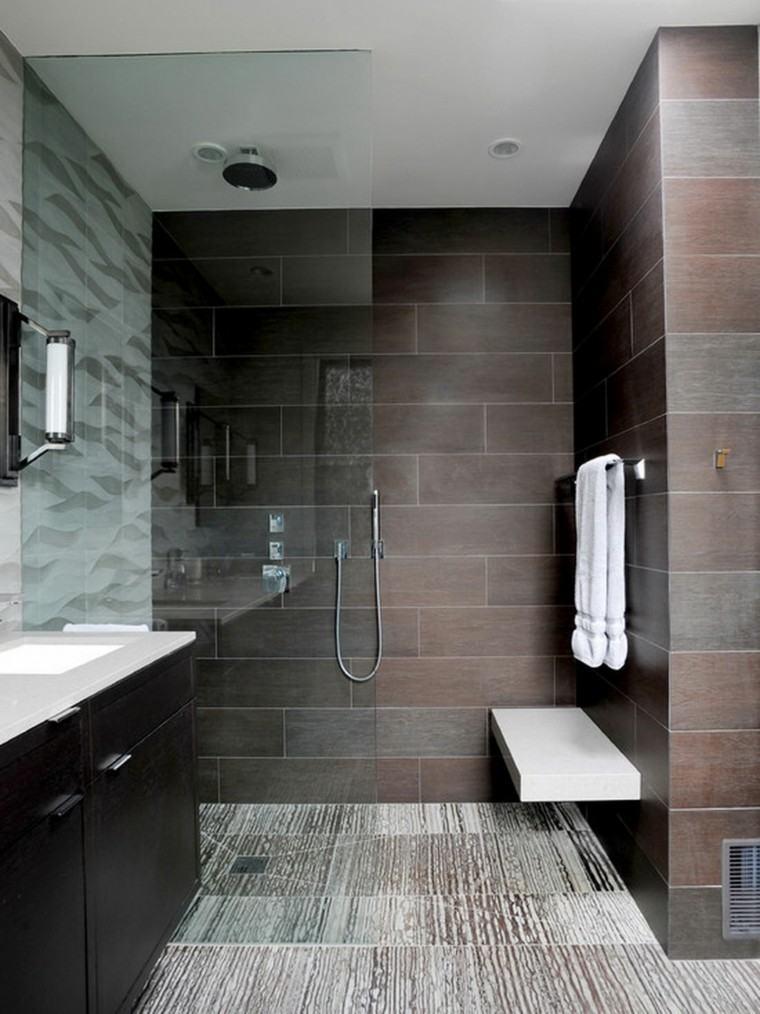 azulejos de baño color marron