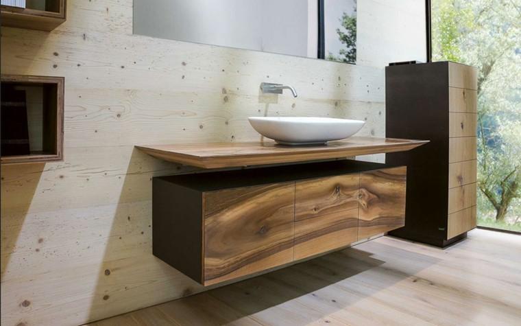 Baño Moderno Rustico:Cuartos de baño rusticos – 50 ideas con madera y piedra