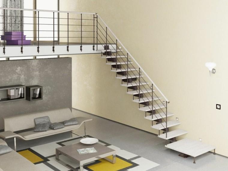 Escaleras colgantes vs escaleras suspendidas - Escaleras interiores modernas ...