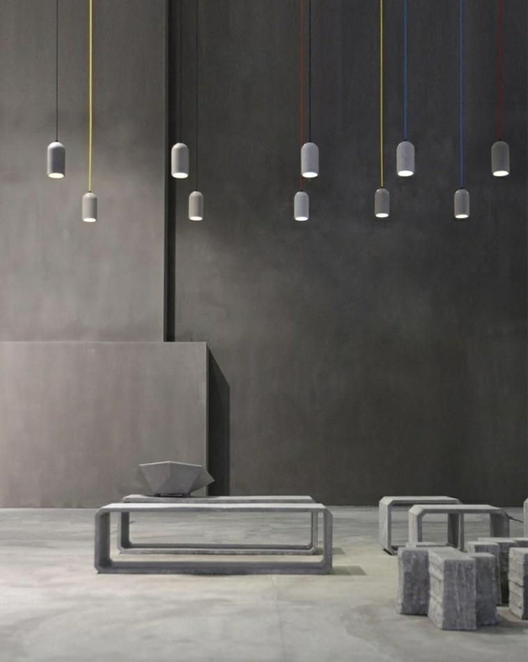 diseño moderno todo cemento pared