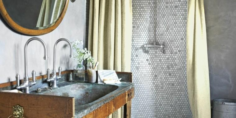 diseño mueble lavabo estilo rustico