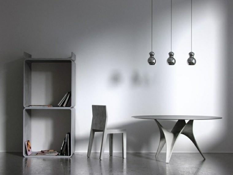 diseño muebles modernos cemento gris