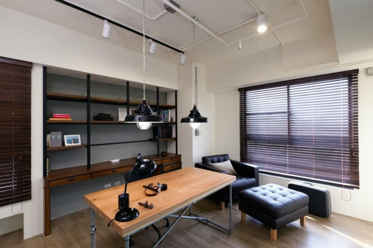 diseño oficina pequeña estilo moderno