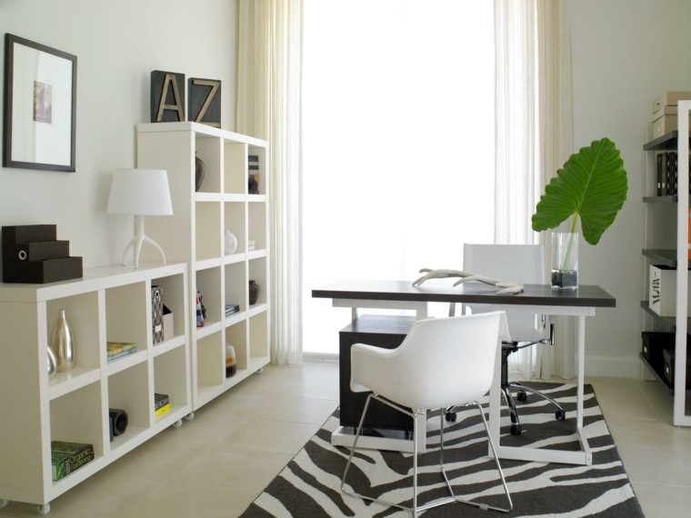 diseño oficinas modernas hoja verde