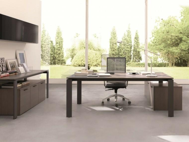 diseño oficinas modernas vistas jardin