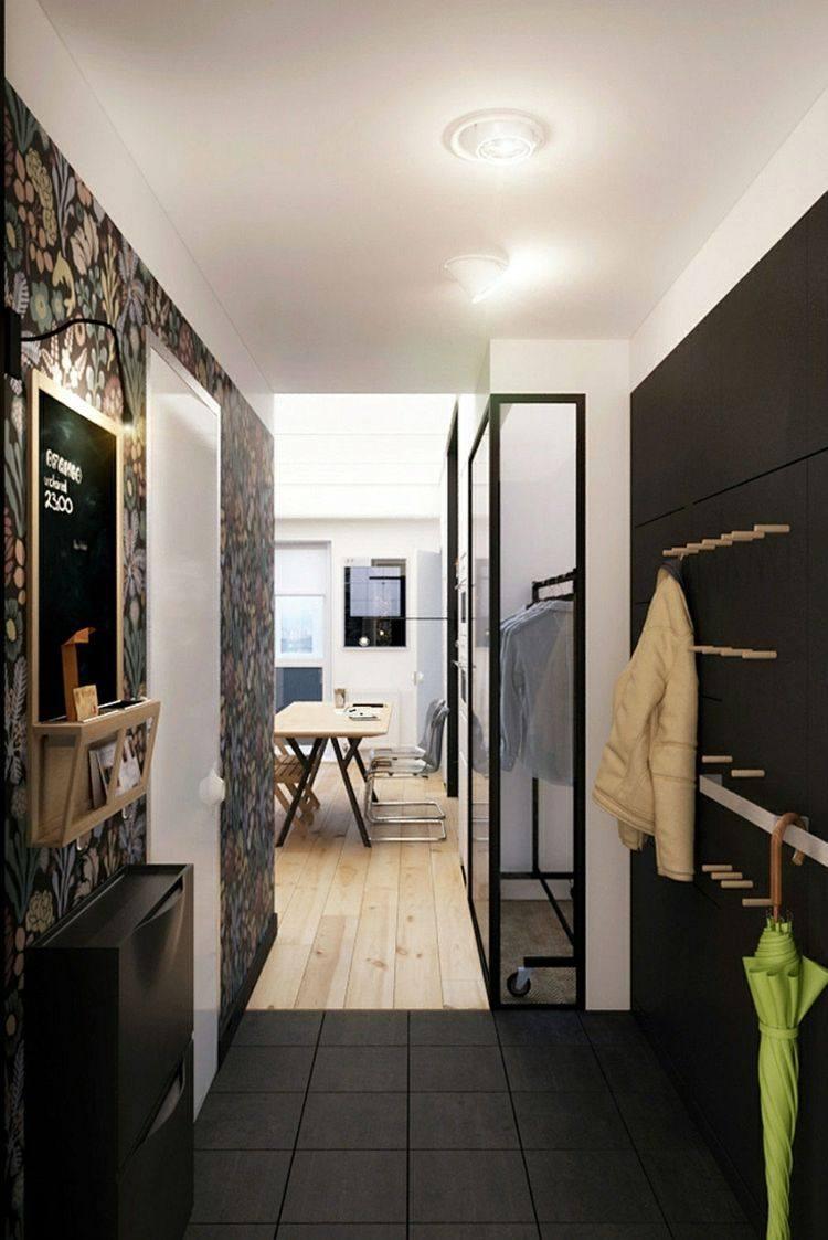 diseño recibidor negro estilo mdoermo