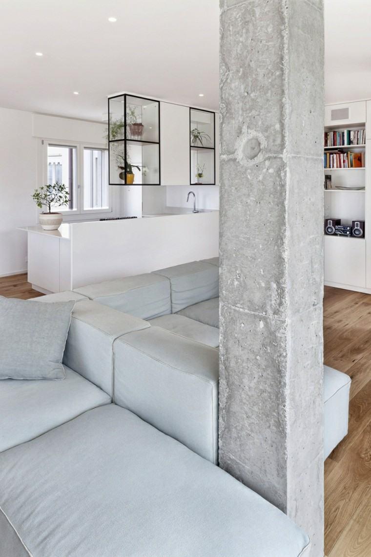 diseño interior columna cemento