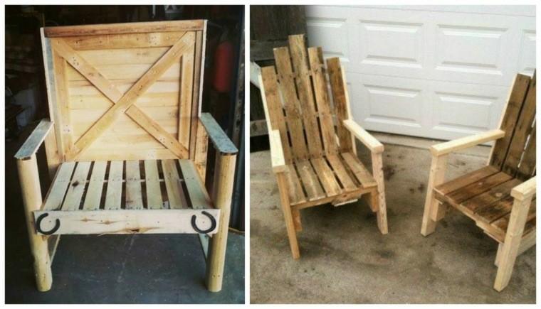Cajas de madera usadas para fabricar muebles 75 ideas - Sillas con palets ...