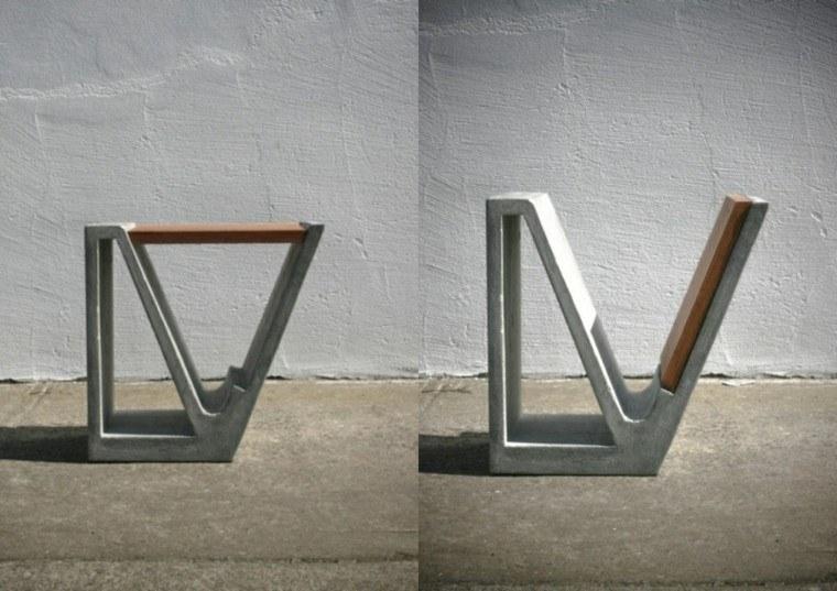 diseño silla taburete moderno cemento