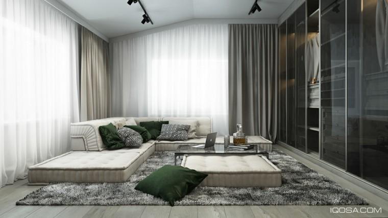 diseño sofa colchones suelo cojines