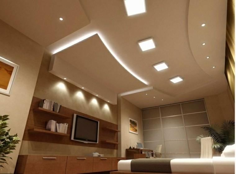 diseño techos falsos luces Led