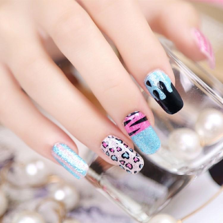 diseño uñas pintadas colores modernos