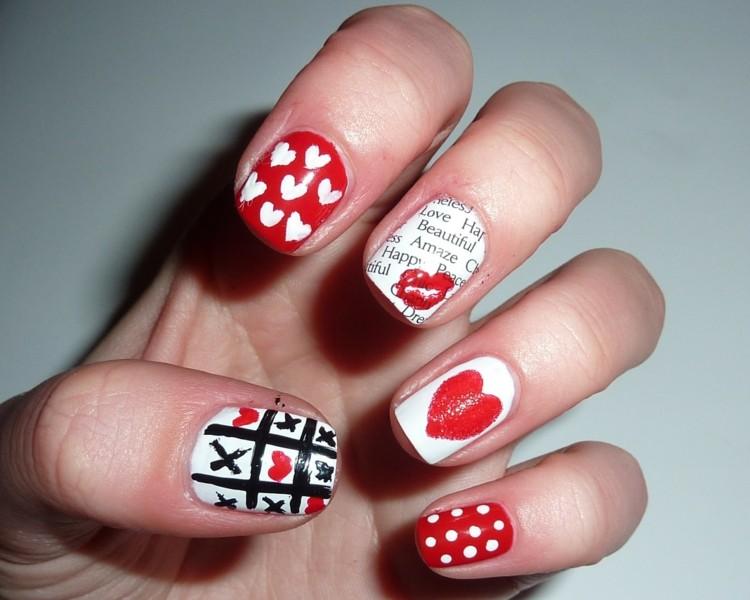 diseño uñas motivo san valentin