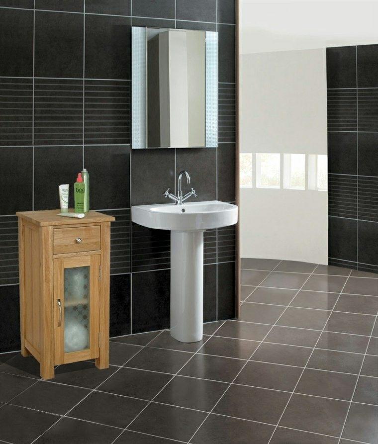 diseño azulejos baño moderno rayas